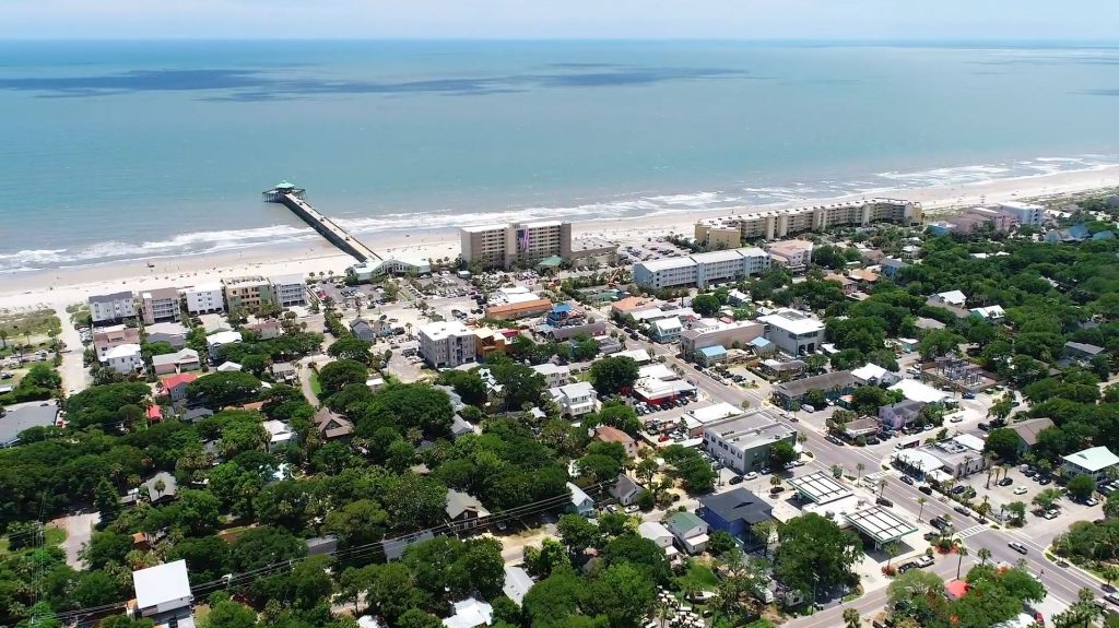 Folly Beach Aerial View